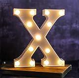 Letra de luces LED del alfabeto – Letras luminosas – 26 alfabeto y 10 números luz nocturna...