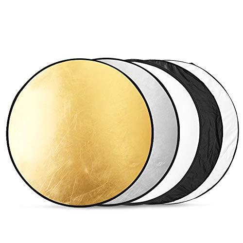 BDDFOTO 40cm 5 in 1 Fotografiereflektor Reflector Multi Photo Disc klappbar Licht-Reflektor für Studio oder Jede Fotografie Situation