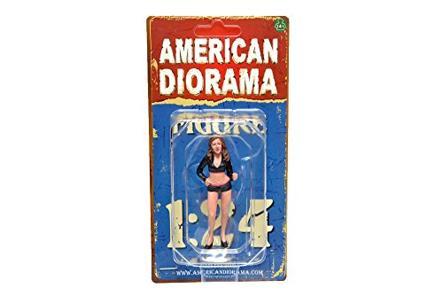 figurine Paddock Girl, 0, voiture miniature, Miniature déjà montée, Americains Diorama 1:24
