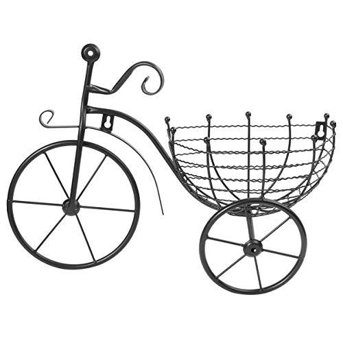Cabilock Triciclo Soporte de Planta Maceta Soporte de Carro Bicicleta de Hierro Sostenedor de Planta en Maceta para Hogar para Decoración de Jardín Interior Exterior Almacenamiento de