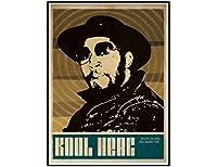 Dj KoolHerc音楽歌手ウォールアートポスターキャンバス絵画リビングルーム家の装飾壁の装飾(60X90Cm)-24x36インチフレームなし