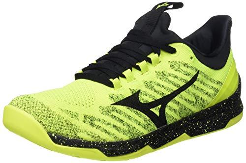 Mizuno Tc-01 Fitnessschuh Herren-Neongelb, Schwarz, Zapatos para Correr Calzado Deportivo Hombre, Safety Yellow/Black, 45 EU