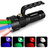 LUMENSHOOTER SL400 RGBW 4 Color in 1 Multifunction Hunting Spotlight Rechargeable Scan Light Green...