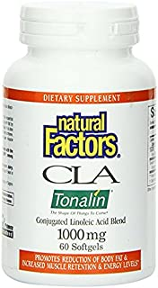 Natural Factors CLA Tonalin Linoleic Acid Softgels, 60-Count