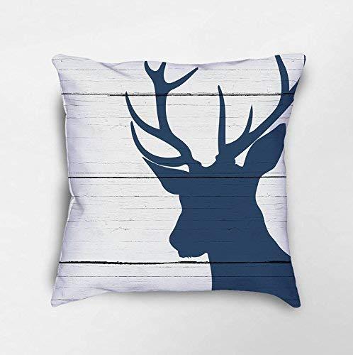 N\A Deer Throw Pillow Deer Decor Stag Pillow Rustic Deer Pillow Cabin Pillows Farmhouse Decor Farmhouse Pillows Modern Farmhouse Pillow