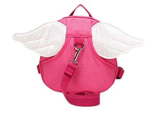 Demarkt–bebé infantil alas de ángel Seguridad Mochila Bolsa con cinturón de seguridad color rosa