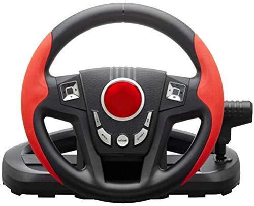 WUAZ Volante De Carreras - PC / PS3 del Soporte del Volante Rotación De 300 °, La Textura del Metal con Textura De Viajeros por La Escena