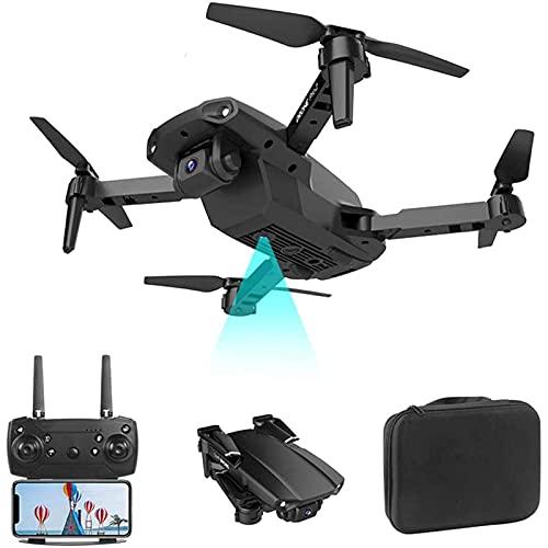 DCLINA Drone 4K UHD con Doppia Fotocamera per Adulti Zoom 50x Ritorno Automatico a casa Controllo del rilevamento della gravità Luce Notturna a LED
