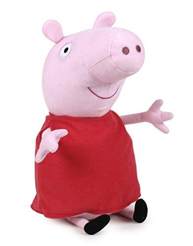 Peppa Pig - Peppa Vestido Rojo clásico 42cm Calidad Super Soft - Peluche - Ouast