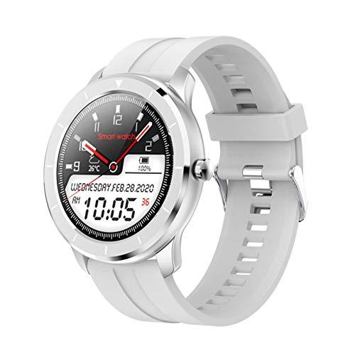 YNLRY Reloj inteligente para hombre y mujer, esfera personalizada, pantalla táctil completa, IP68, resistente al agua, para Android IOS Fitness relojes (color gris)