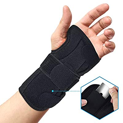 BROTOU Carpal Tunnel Wrist Brace Night Wrist Sleep Stabilizer Splint Support for Tendinitis, Bowling, Sports Injuries Pain Relief - Left/Right Hand (LEFT)