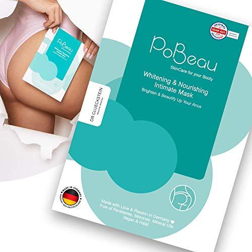 PoBeau® Hydrogel-Intimmaske für dunkle Stellen an der Haut - Schonende Aufhellung und Hydratisierung des Analbereichs - Geeignet auch für Achselhöhlen, Ellenbogen u.v.m.