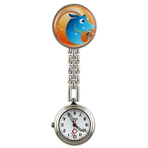 Enfermera Clip Reloj De Bolsillo,Mesa de Enfermera de Reloj de Bolsillo Retro Luminoso, Lindo gráfico de Pared de Moda Estudiante de Medicina-NO.04,Relojes de Doctor Enfermera
