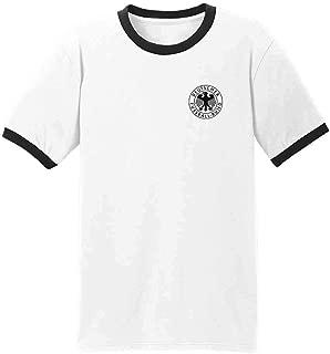 Germany Soccer Futbol Retro Vintage National Team Graphic Tee Ringer T-Shirt