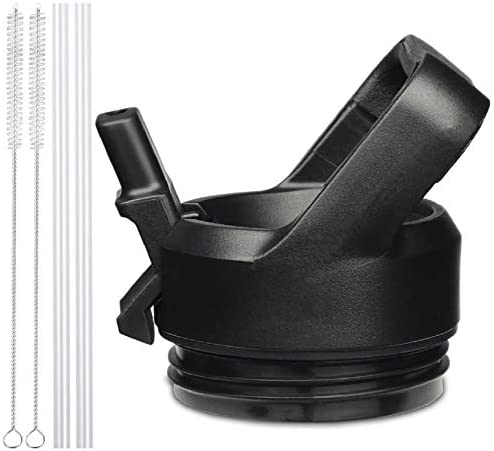 AIPENQ Straw Cap Leakproof Fitted Lid Fits YETI Rambler 18 26 36oz 64oz Bottles Black product image