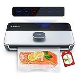 CalmDo Machine Sous Vide Automatique, 6 en 1 Appareil de Mise Sous Vide Alimentaire Professionnel avec Écran Tactile LED et 1 Rouleau de Sac sous Vide