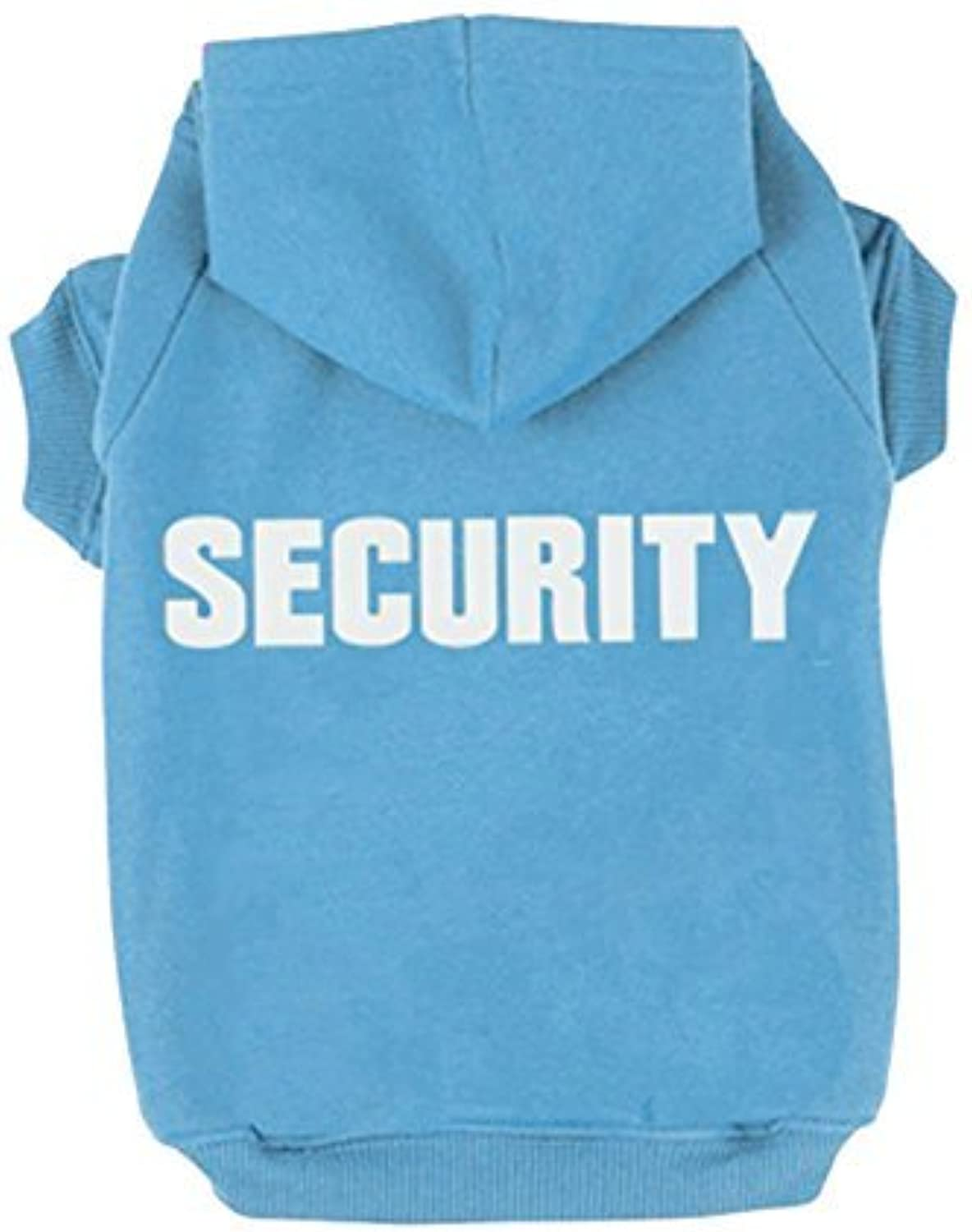 BINGPET Security Patterns Printed Puppy Pet Hoodie Dog Clothes bluee Large