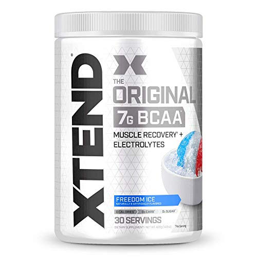 XTEND Original BCAA Powder Freedom Ice | Sugar Free Post Workout Muscle Recovery Drink with Amino Acids | 7g BCAAs for Men & Women | 30 Servings