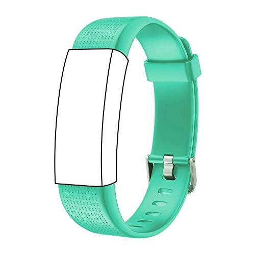 endubro Ersatzarmband für Fitness Tracker ID130 Plus Color HR & viele weitere Modelle aus TPU Skin-Friendly mit antiallergischem Verschluss (Grün)
