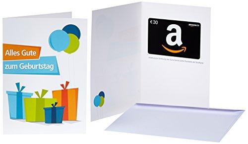 Amazon.de Geschenkkarte in Grußkarte - 30 EUR (Geburtstagsgeschenke)
