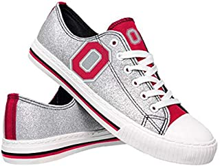 FOCO NCAA Ohio State Buckeyes Womens Glitter Low Top Canvas ShoesGlitter Low Top Canvas Shoes, Team Color