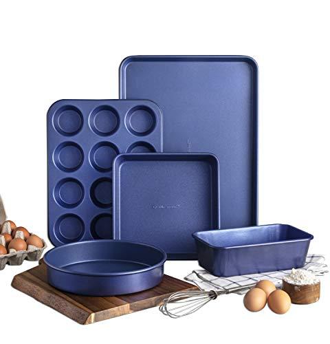 Granite Stone Diamond Granite Stone Granitestone Blue, 5 Piece Bakeware Set