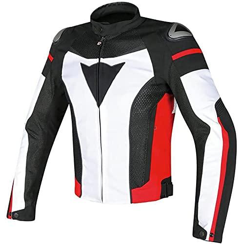 Giacca da Moto per Motociclista Cordura Impermeabile Tessile Giubbotto Moto Protezioni CE Manica Staccabile Gilet Termico 4 Stagioni per Touring Racing A,XXXL