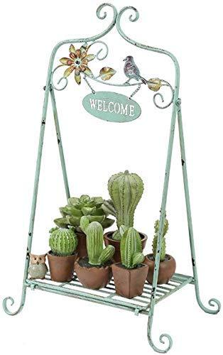 ZJN-JN Estantes Flores Arte población de Plantas de Hierro, plantador Holder, Elegante Piso del diseño del Estante, exhibición de Interior al Aire Libre Jardín Patio Planta Planta Decorativa Bonsai