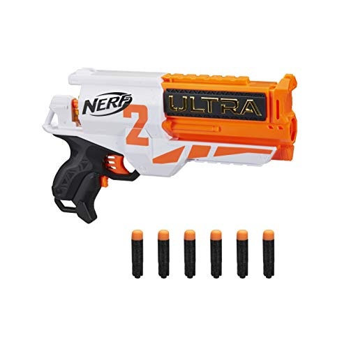 Nerf Two Motorised Blaster – Recarga rápida – Incluye 6 Compatible Solo con Dardos Ultra, Multicolor (Hasbro E79214R00)