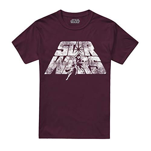Star Wars Retro Logo Camiseta, Rojo...