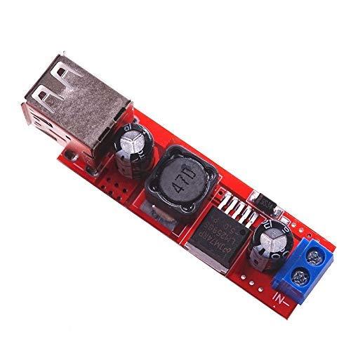 10 unids/lote salida USB dual 9 V / 12 V / 24 V / 36 V interruptor de cargador de coche 5 V DC-DC módulo de fuente de alimentación 3A regulador Buck