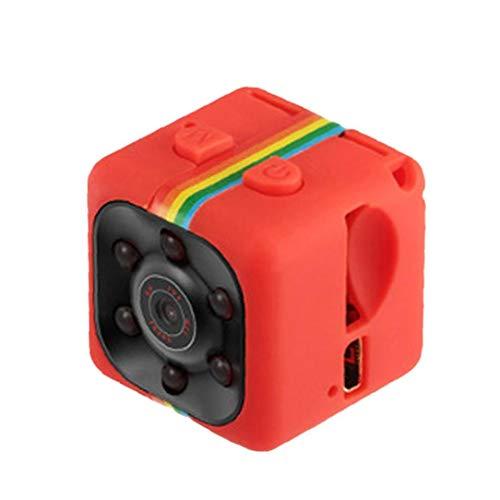 nJiaMe Kamera-HD 1080P Bewegungs-Sensor-Nachtsicht SQ11 Mini-Camcorder Micro DVR Camara Sport DV-Videogerät Rot für Home Office