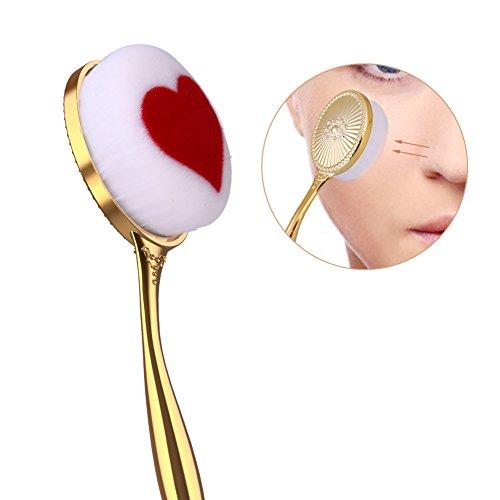 Artifun en forme de coeur Fond de teint Maquillage Brosse à dents type