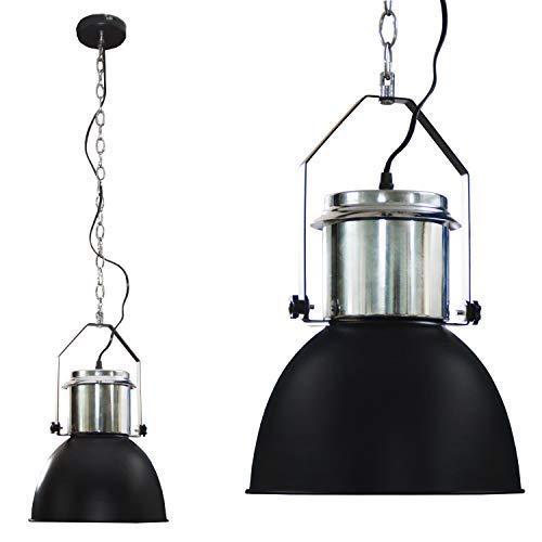 DRULINE Industriedesign Lampe Edelstahl Hängelampe Lampe Deckenlampe NEU (Schwarz)