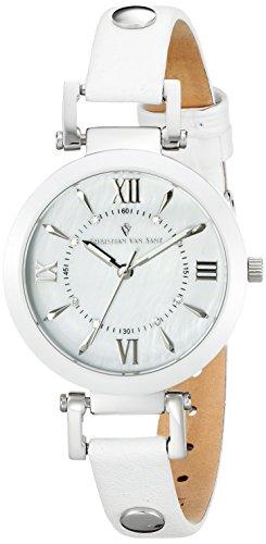 Christian Van Sant Uhr mit Schweizer Quarzuhrwerk Cv8161 Petite weiß 31 mm