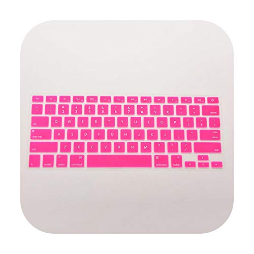 Roit Silicone Protective Cover Skin for Macbook Pro Mac 13 15 Air 13 Soft Keyboard Stickers Pink