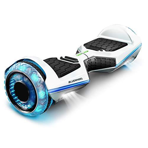 6.5  Premium Hoverboard Bluewheel | Marca de calidad alemana | Neumáticos LED Infinity & App | Modo de seguridad para niños | Altavoces Bluetooth | Patín eléctrico con potente motor dual - HX360
