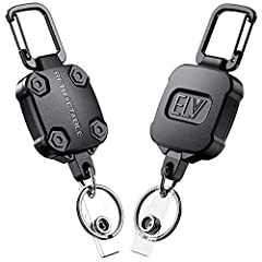 EASILY ACCESS KEYS & BADGES - Keep all your keys in one place and your work ID badge easily accessible with this retractable badge holder. It's the perfect organizational tool for office environments, commercial & industrial job sites, contracting pr...