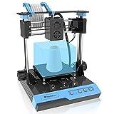 Mini stampante 3D con piastra magnetica rimovibile, doppio asse Z, riscaldamento rapido, silenzioso, dimensione di stampa 4 '× 4' × 4', filamento di prova libero da 10 m – 1,75 mm