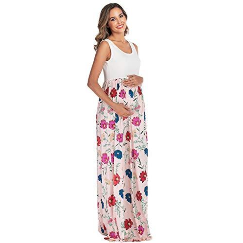 Lenfesh Umstandsmode Sommerkleid Lang Blumen Maternity Kleid Damen Umstandsmode Sommerkleid Festliches Umstandskleid Schwangeren Kleider Mutterschaftskleid