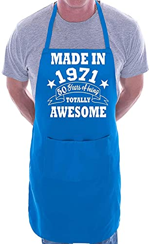 XIEYI 1971 50 Ans Anniversaire Barbecue culinaire Collier intéressant-Taille Unique_Bleu