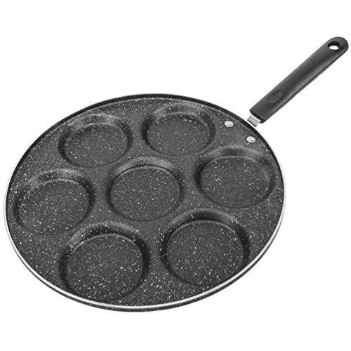 UPKOCH Pfannkuchenpfanne 7-Tassen-Form Blini-Pfanne Dollar Pfannkuchenpfanne Antihaft-Frühstücksplatte Mini-Pfannkuchenhersteller Spiegelei-Kocher für zu Hause