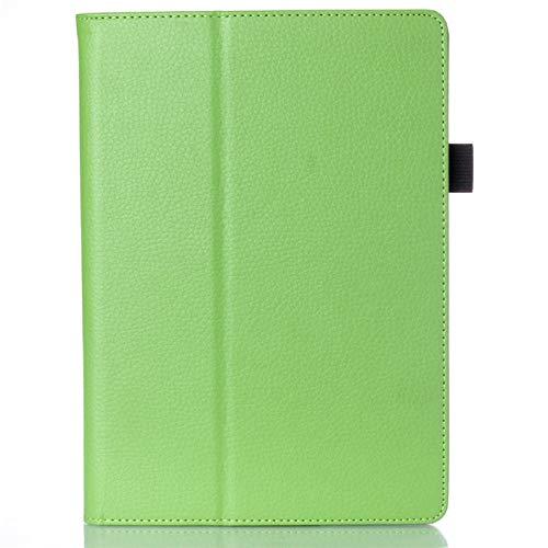 Cubierta del Soporte del Soporte para Lenovo A10-70 A7600-h / A7600-f Funda Lichee Stand Cubierta de Cuero de la PU para la Tableta Lenovo A10-70 A7600 10.1-Verde