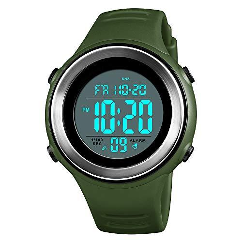 Digital Watches, nbws Sports multifunción Hombre Impermeable con LED de luz Despertador Cronómetro Outdoor Digital Relojes de Pulsera