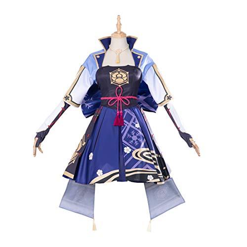 Trueornot Kamisato Ayaka - Juego de disfraz de cosplay (15 piezas)