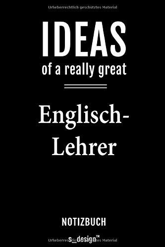 Notizbuch für Englisch-Lehrer: Originelle Geschenk-Idee [120 Seiten gepunktet Punkte-Raster blanko Papier]