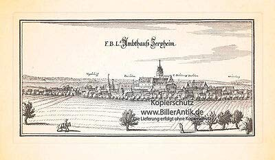 F.B.L. Amthaus Jerxheim Heeseberg Schloss Gerksem Kupferstich Merian 0396