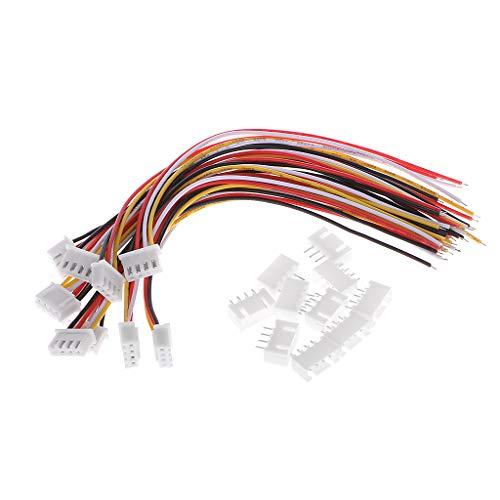 Gjyia 10 stuks 3S JST-XH stekker adapter stekker 4-pins servo verlengkabel kabel 15 cm zoals afgebeeld