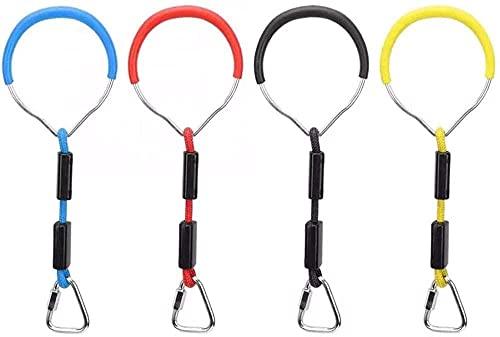 Colorful Swing Bar Rings Kids Gymnastics Rings Wear Festing para la Escalada Marco y Garden Swivel Backyard al Aire Libre Juego