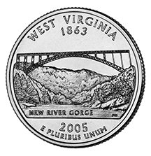 2005 D West Virginia State Quarter Choice Uncirculated